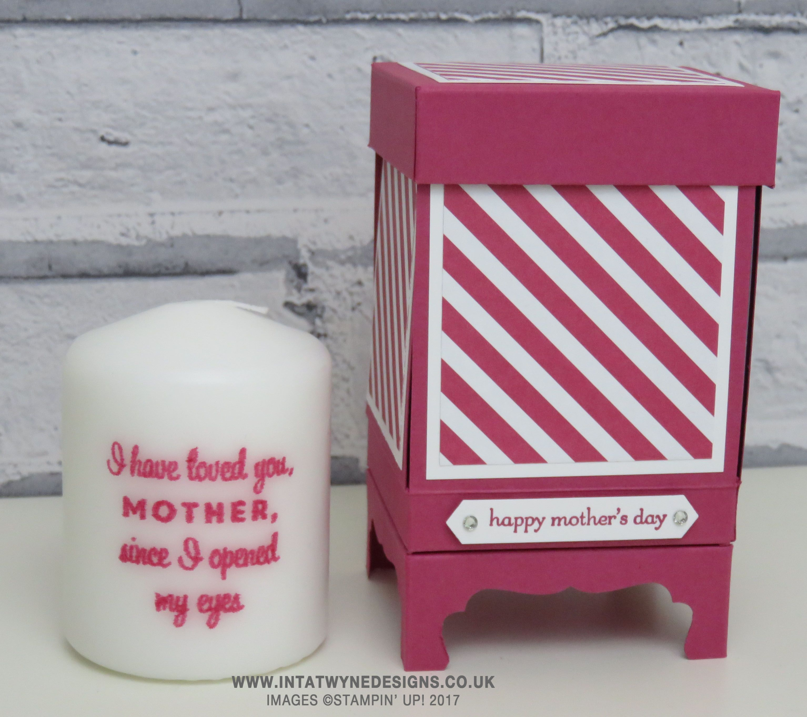Mothers Day Week: Small Exploding Candle Box on Legs ...