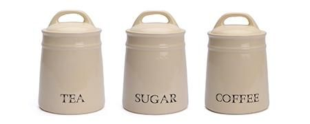 Cream Country Kitchen Canister Collection