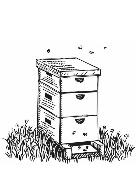 Coloring Page Beehive Coloring Picture Beehive Free Coloring