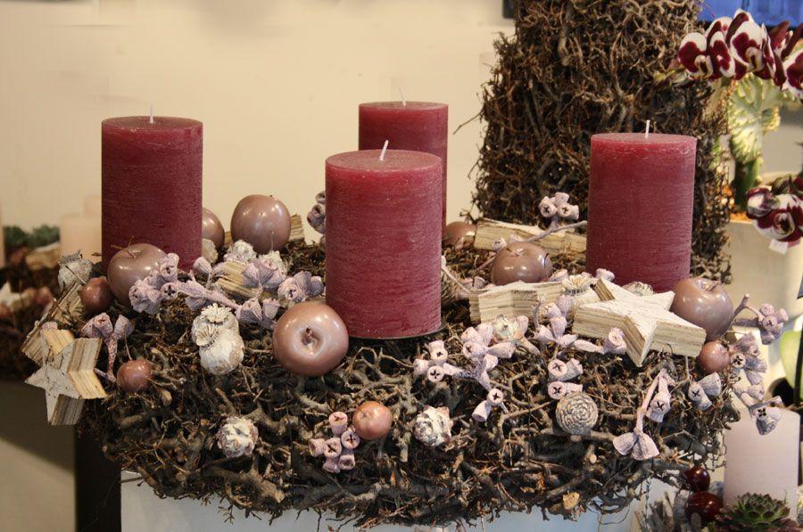Adventskranz In Altrosa Gebunden Aus Asten Advent Wreath Foto Birgit Puck Adventskranz Weihnachtsdekoration Weihnachtsdekoration Fur Tische
