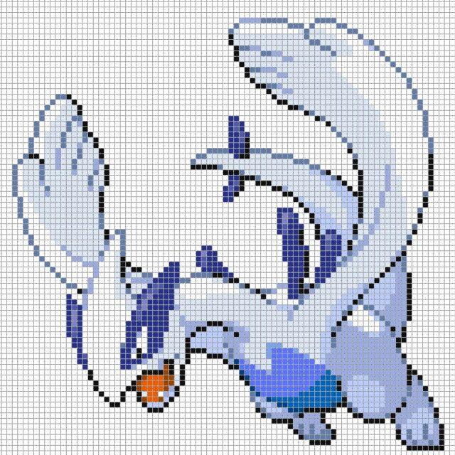 Pokemon Pixel Art Grid Sprites
