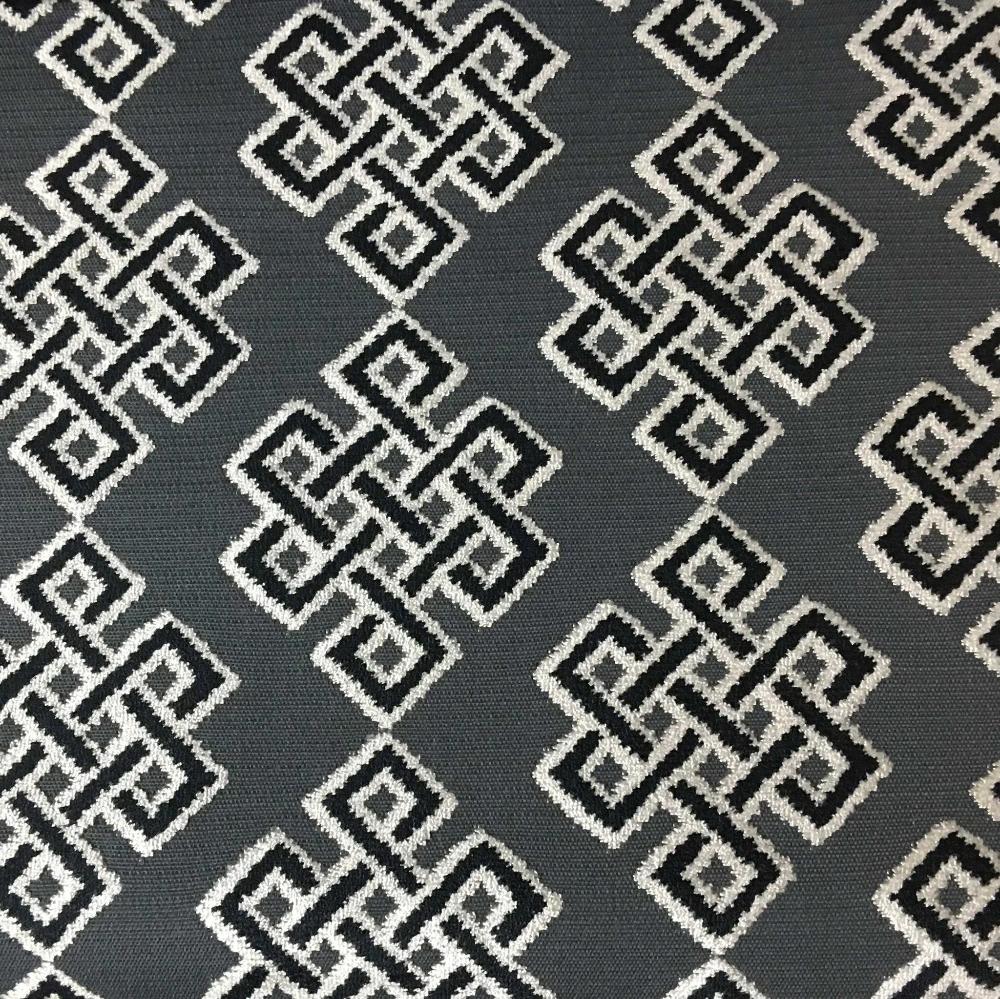 Wicklow - Geometric Pattern Cut Velvet, Drapery & Upholstery Fabric