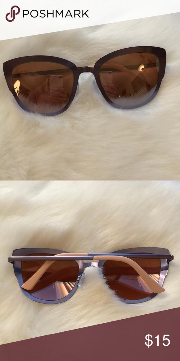 0ae148ae90797 Cateye sunglasses Purple with rose gold mirror sunglasses Quay Australia  Accessories Glasses