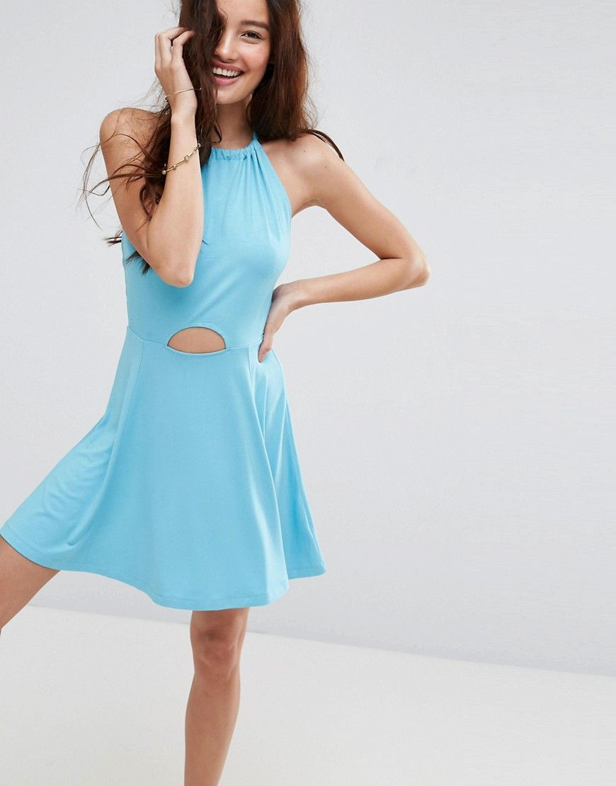 Halter Dress Mini Swing