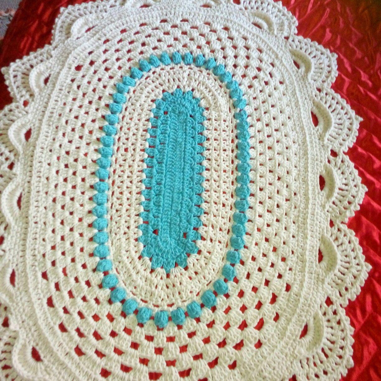 Tapete Oval Simples Bico Tipo Tapete Russo Minhas Obras De Arte  -> Tapete De Croche Oval Simples Passo A Passo