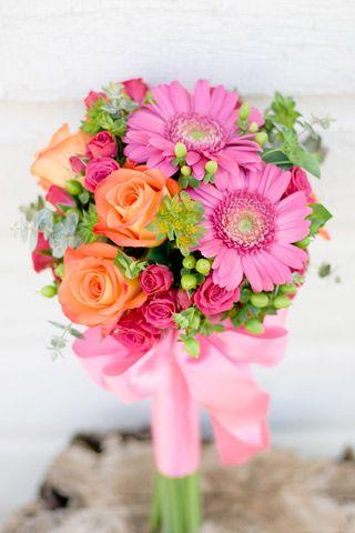 Lovely Palette Colorful Bouquet Bridesmaid Flowers Bridal Flowers