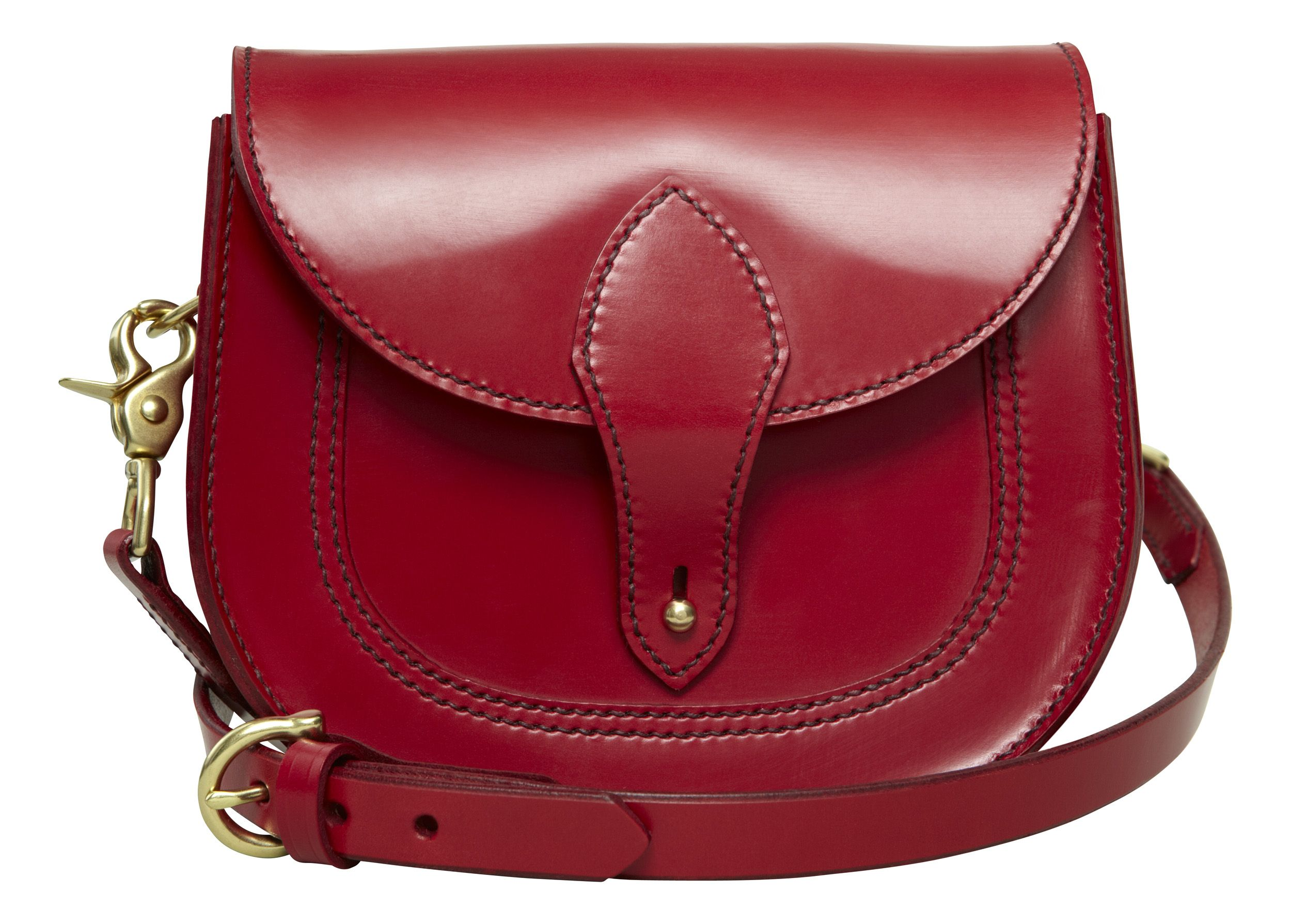 THE OWL satchel in red English bridle leather by HANSON OF LONDON #leathercraft #handmade #madeinengland #bespoke