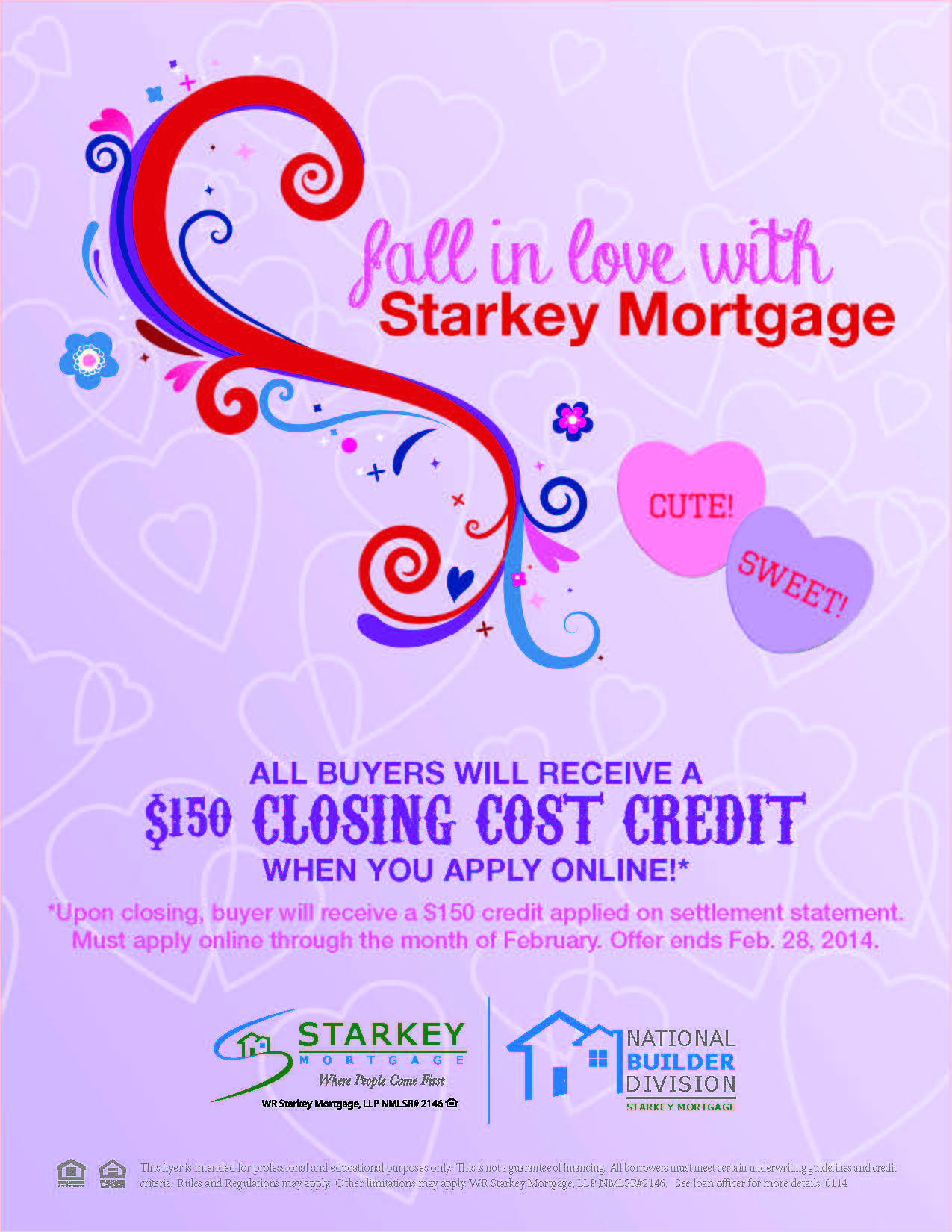 Valentines Flyer Advertisement For Mortgage Company  Mortgage