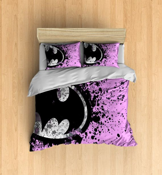 Pink Batman Bedding Super Hero Bedding Set Batman By DesignyLand - Batman dark knight bedding