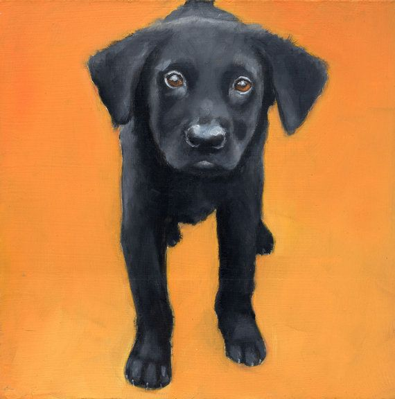 Awww A Lab Puppy Painting But Contemporary Enough Not To Look Like It Was Inherited From Grandma Dog Projects Dogs Lab Puppy
