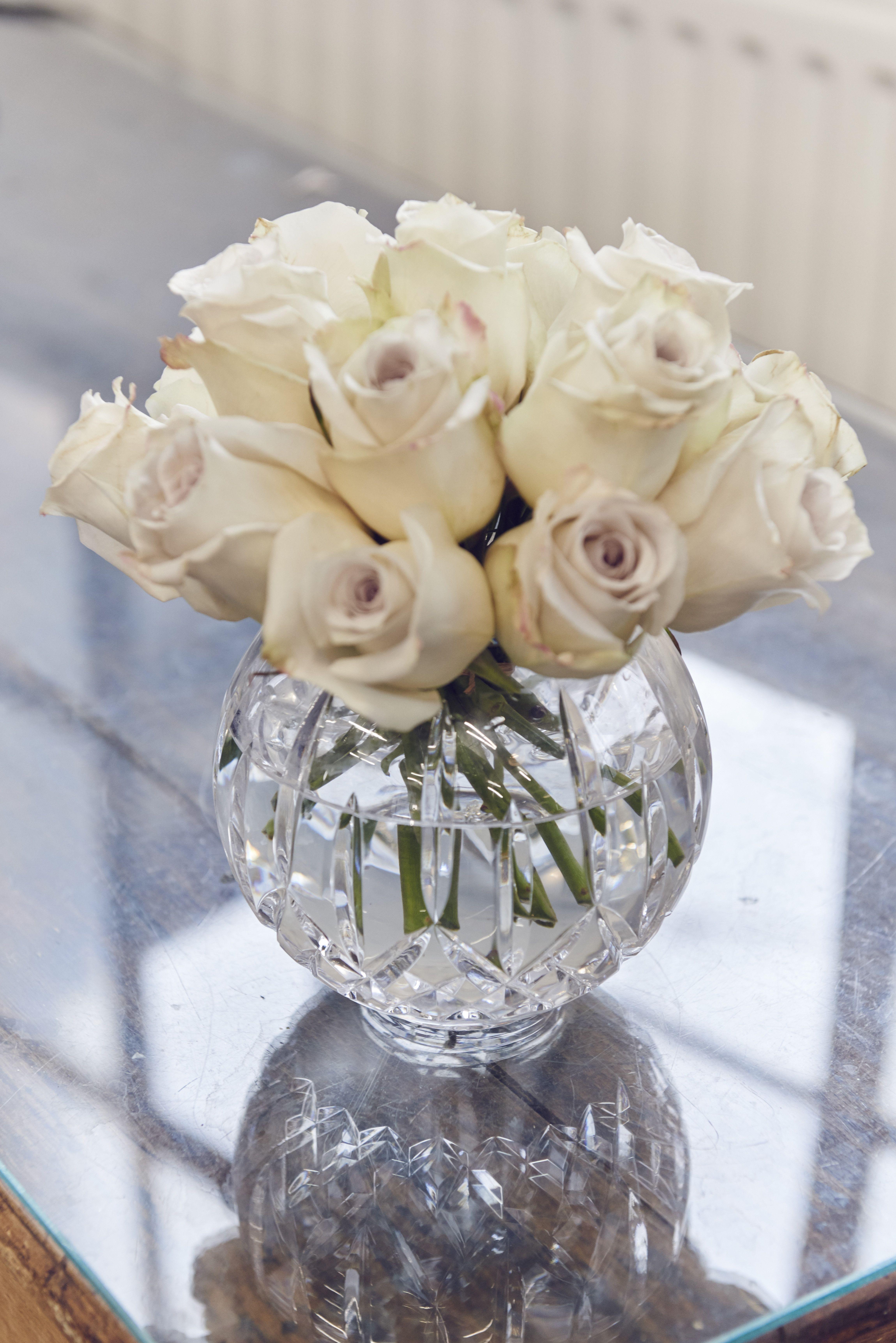Lismore Rose Bowl 15cm Flower Candle Picture Arrangements Wedding Centerpieces
