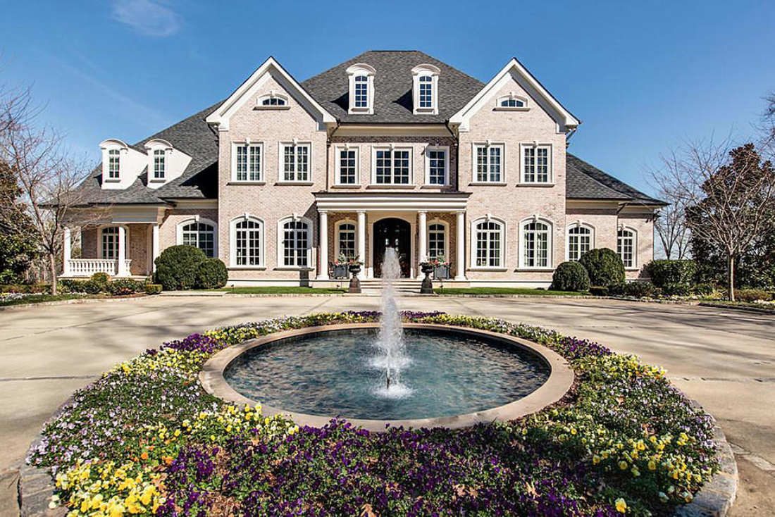 Beautiful Courtyard Home Mansions Luxury Garden Celebrity Mansions