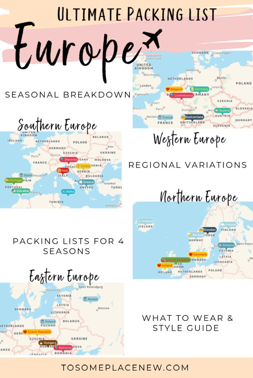 Ultimate Packing List for Europe for all seasons #seasonsoftheyear