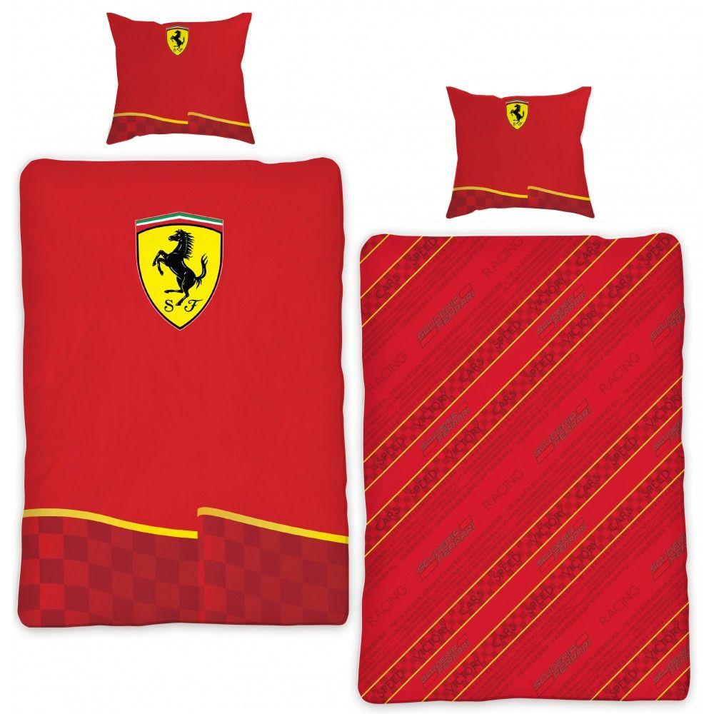 Ferrari dekbedovertrek (rood) 140x200 | textielhuis.nl