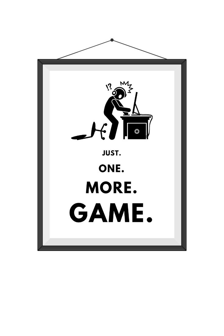 Gifts for Gamer / Gifts for Boyfriend / Nerd Gifts / Geek Gifts / JustOneMoreGame-PC-FallenChair