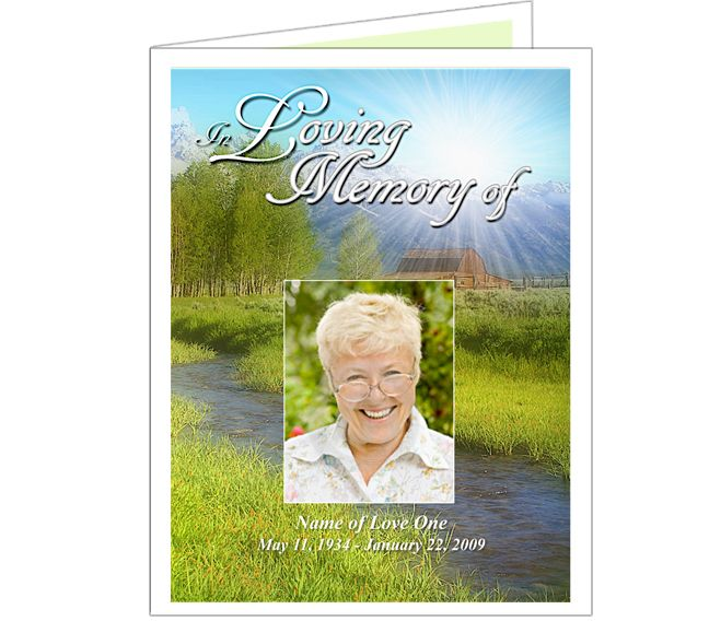 Memorial Funeral Cards  Tranquil Funeral Programs Card Templates