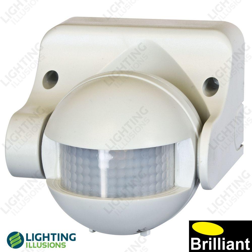White Uni-Scan 180 Degree PIR Motion Detector Security Sensor ...