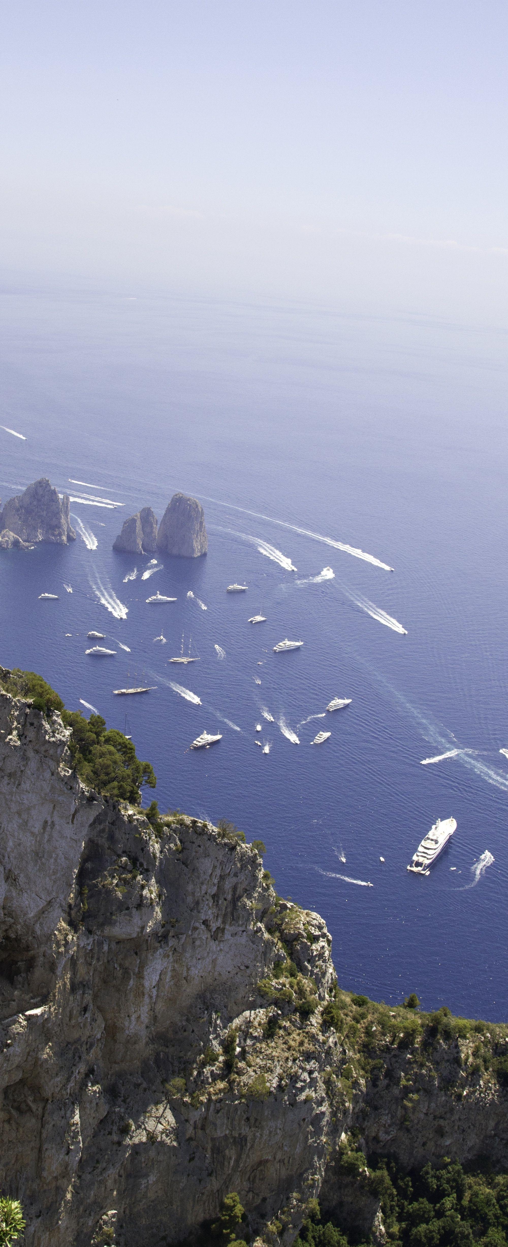 Coast of Naples in Italy