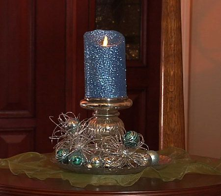 "Qvc Flameless Candles Alluring Luminara 5"" Flameless Glitter Candle With Timer  Valerie Parr Hill Review"