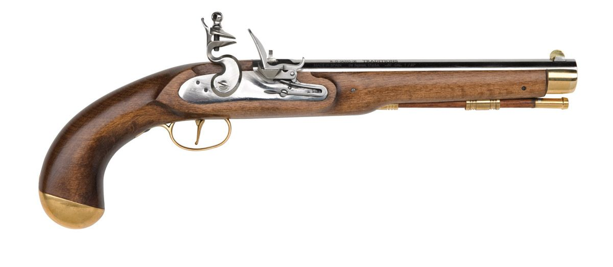 Pirate Pistol .50 Cal Flintlock Select Hardwood/Steel ...