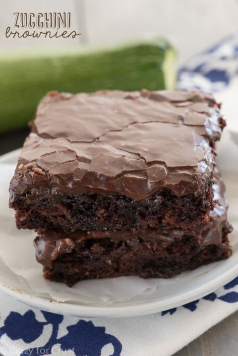 Photo of Zucchini Brownies {Healthier Brownies} – Crazy for Crust