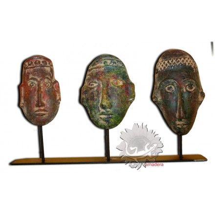decoration artisanale d int rieur masque terre cuite fer forg masques mexicains pour. Black Bedroom Furniture Sets. Home Design Ideas