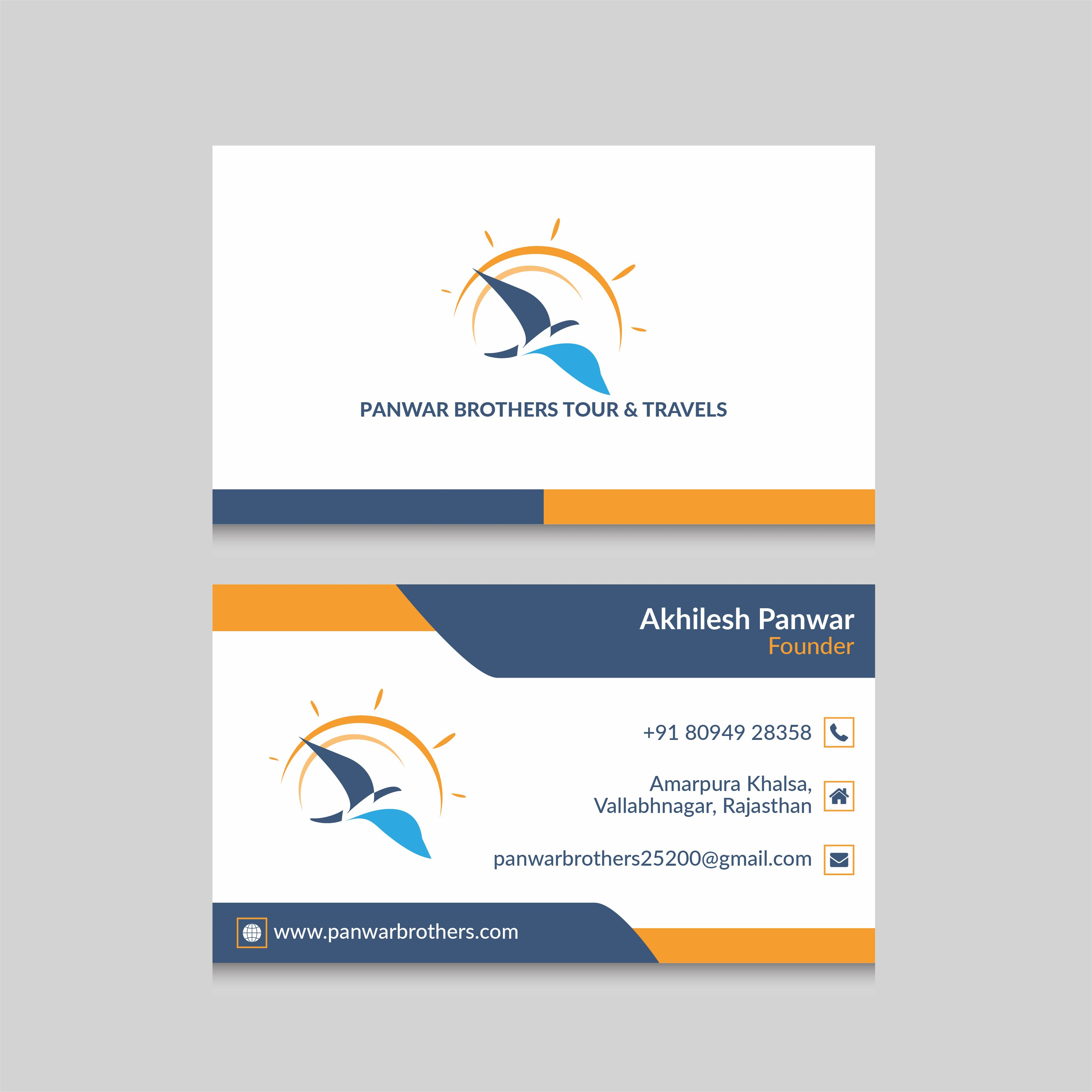 Business Card Visiting Card Design For Your And Travels Company
