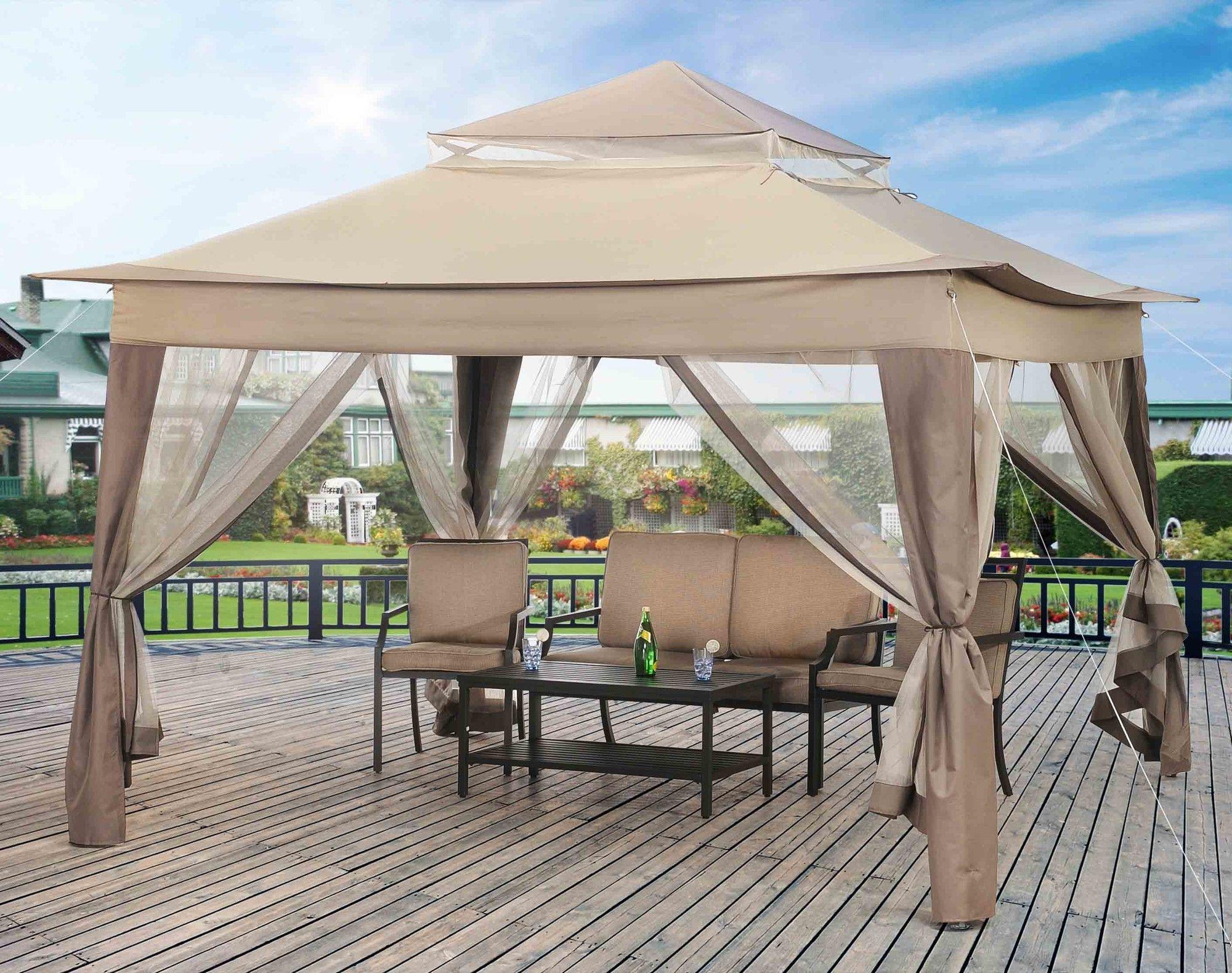 Exterior: Charming Gazebo Plans Hardtop Metal Gazebo Hardtop Gazebo Patio  Canopy Sears Garden Oasis Pergola Canopy Backyard Designs Inspiring On  Backyard ...