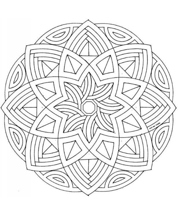 Мандала-8-12_12 mandalas n zentangle Pinterest Mandalas