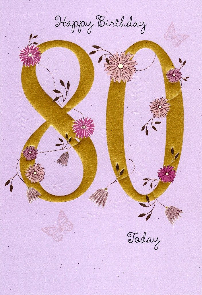 80th Birthday Wishes Cake