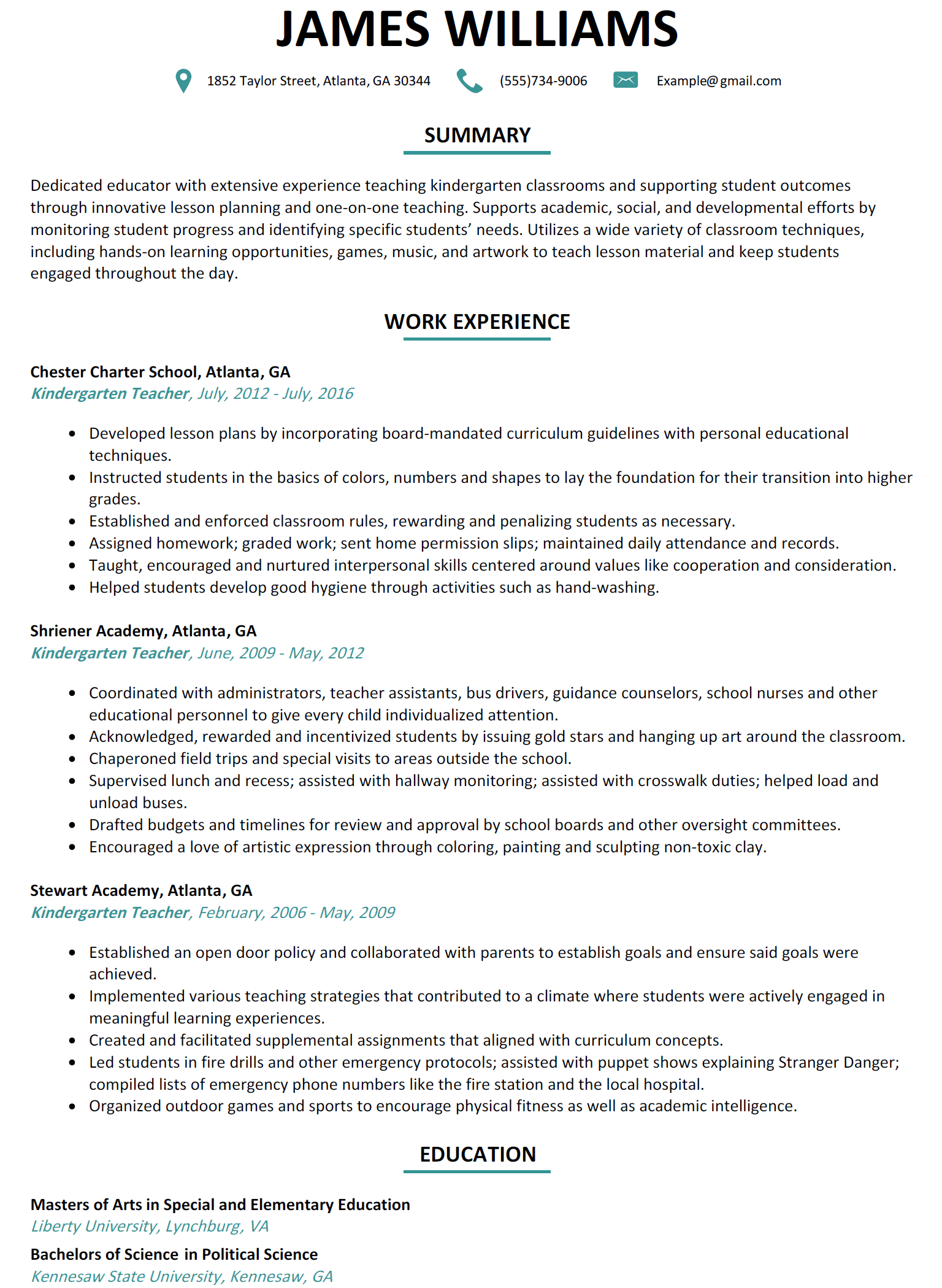 Resume For Teachers Format Fair Resume Format Kindergarten Teacher  Resume Format  Pinterest .