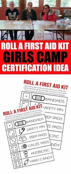Girls Camp Certification: Roll A First Aid Kit