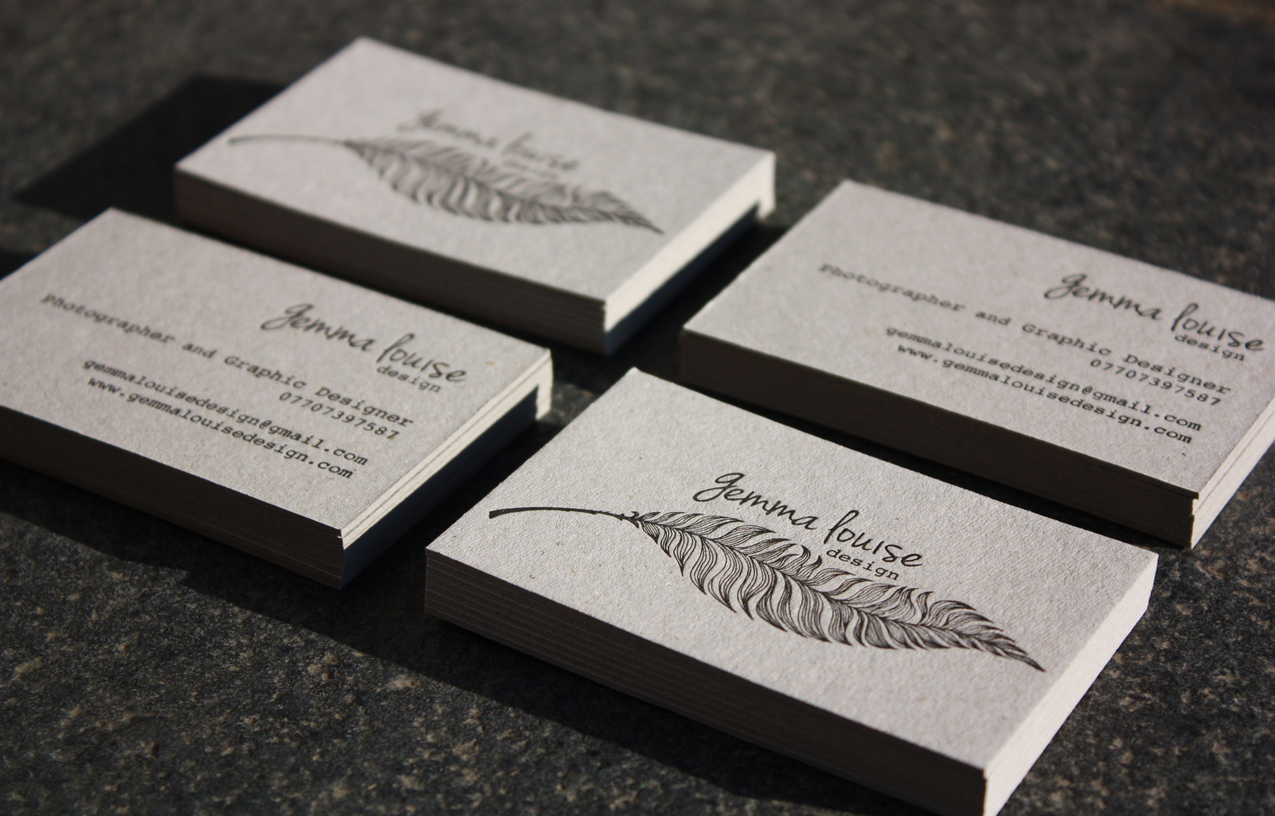 Business cards printed by Glasgow Press on Dutch Greyboard ...