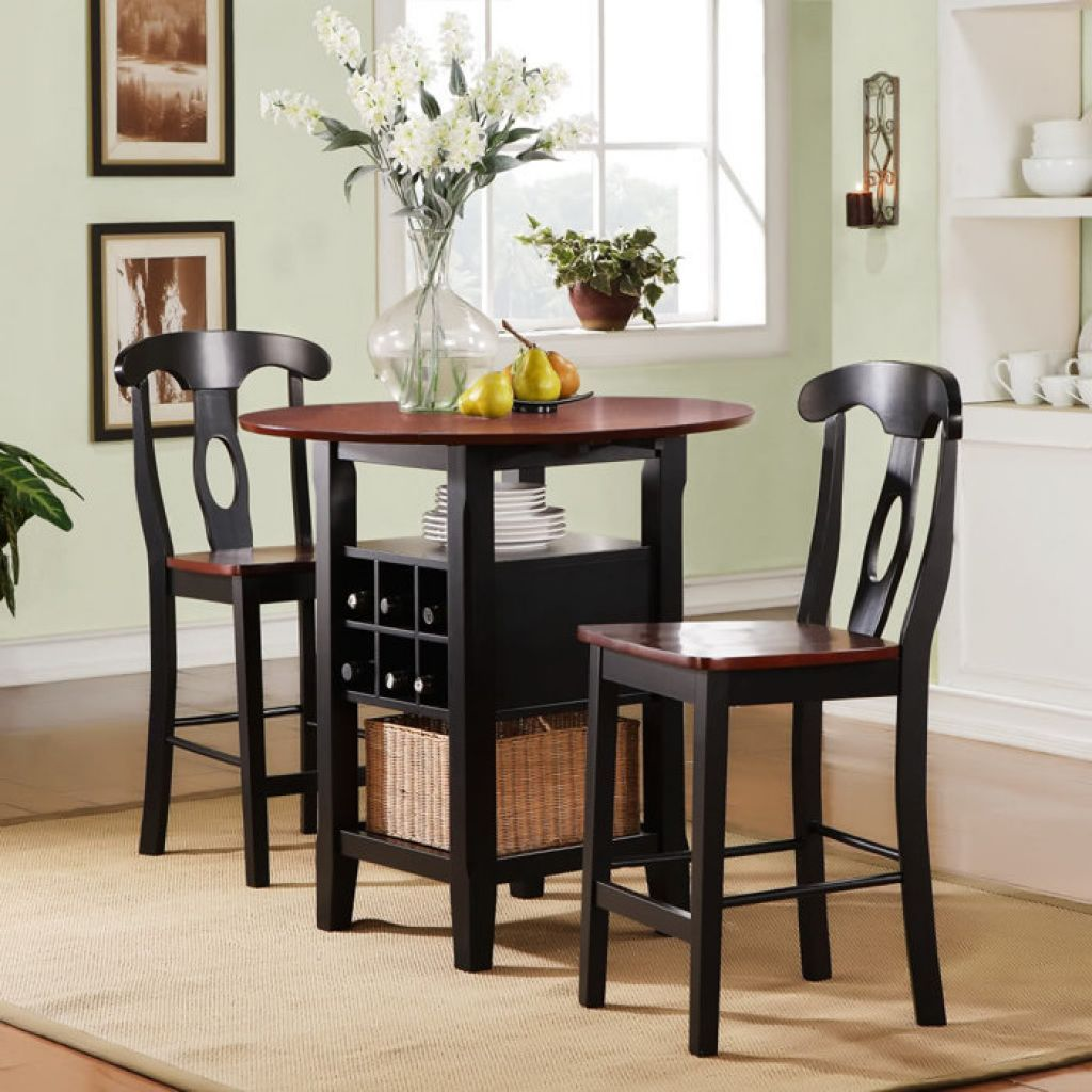 Illustration of High Top Table Sets   Small round kitchen table ...