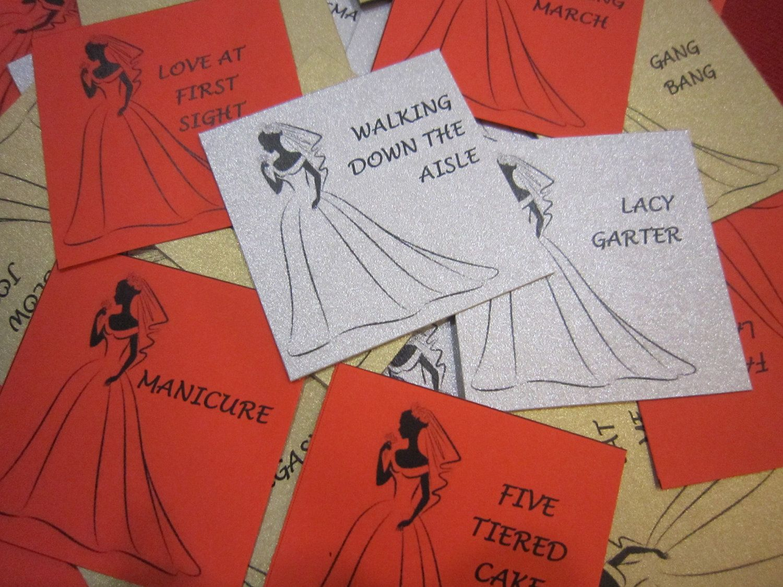Charades Bridal Shower Game (adult) - Printables. $8.50, via Etsy ...