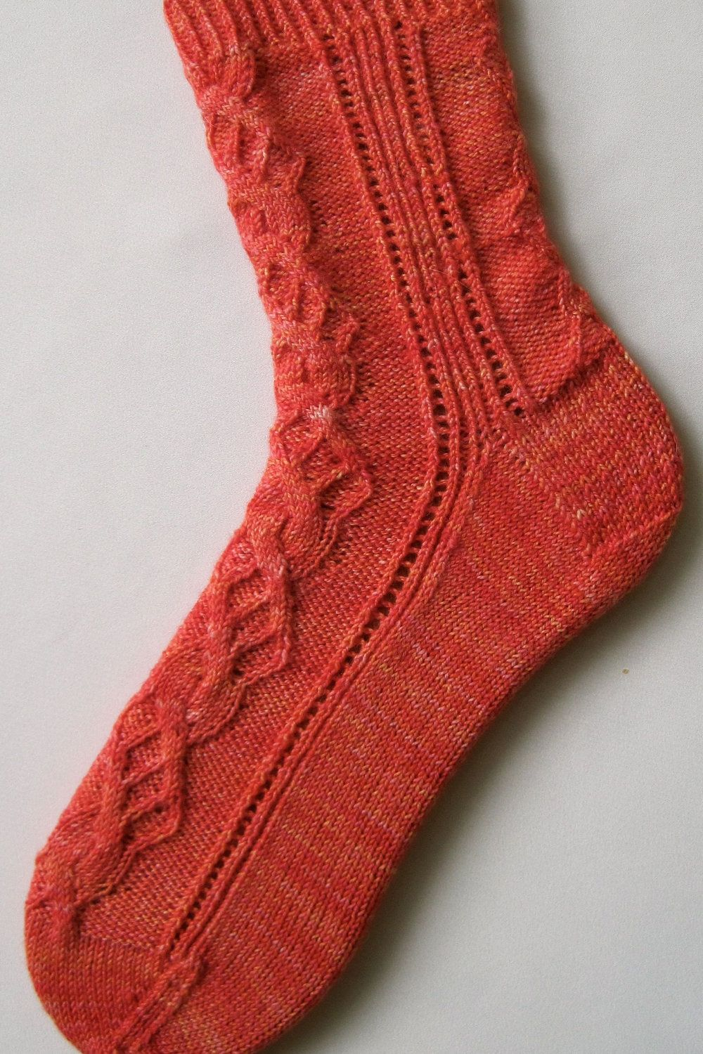 Cable Knit Sock Pattern : Knit Sock Pattern: Cam Cable Sock Knitting Pattern. USD6.50, via Etsy. Beauti...