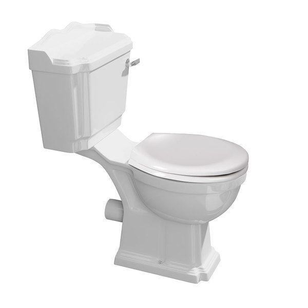 ANTIK WC kombi, mísa+nádržka+splachovací mechanismus, bílá/chrom | Koupelny SEN