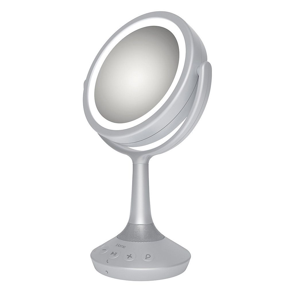 Ihome 5x Double Sided Vanity Mirror With Bluetooth Speaker
