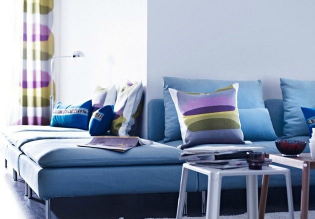 niebieski salon #blue #livingroom #interordesign #delightfull
