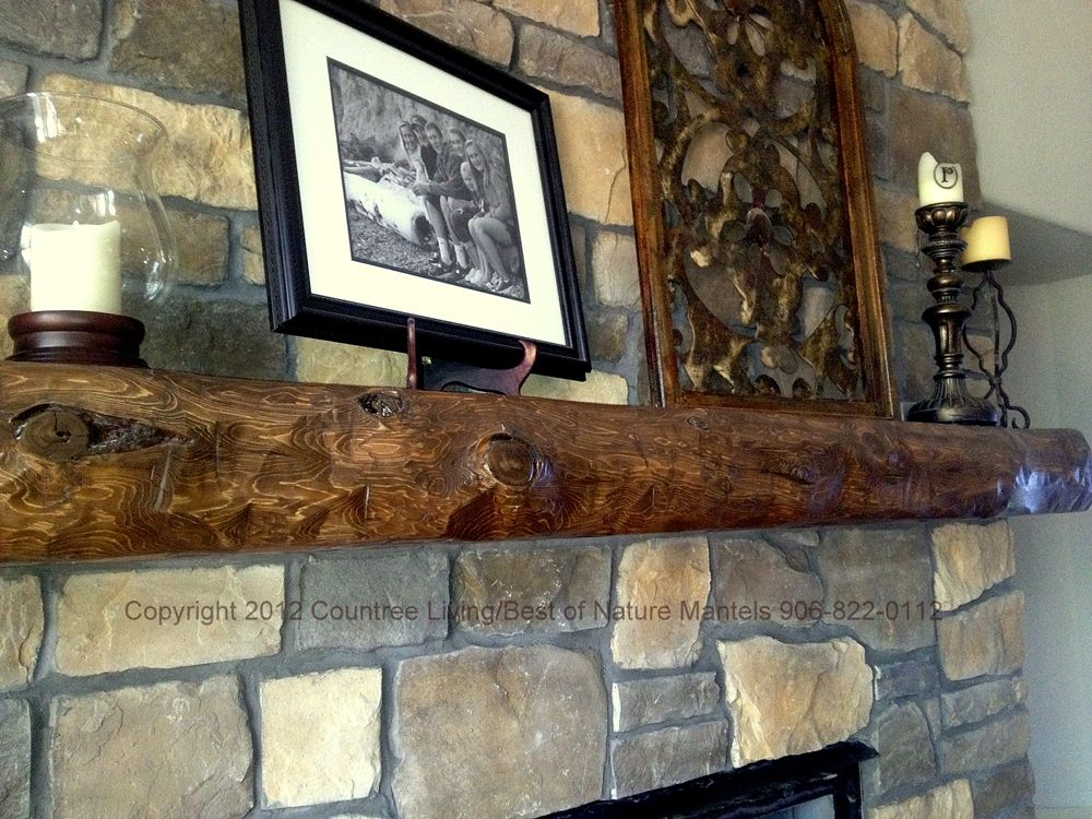 Rustic Mantel Ideas Various Log Mantel Designs These
