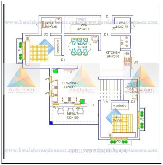 950 Square Feet 2 Bedroom Stunning Home Design With Free Floor Plan Free Kerala Home Plans Free Floor Plans Floor Plans 2bhk House Plan