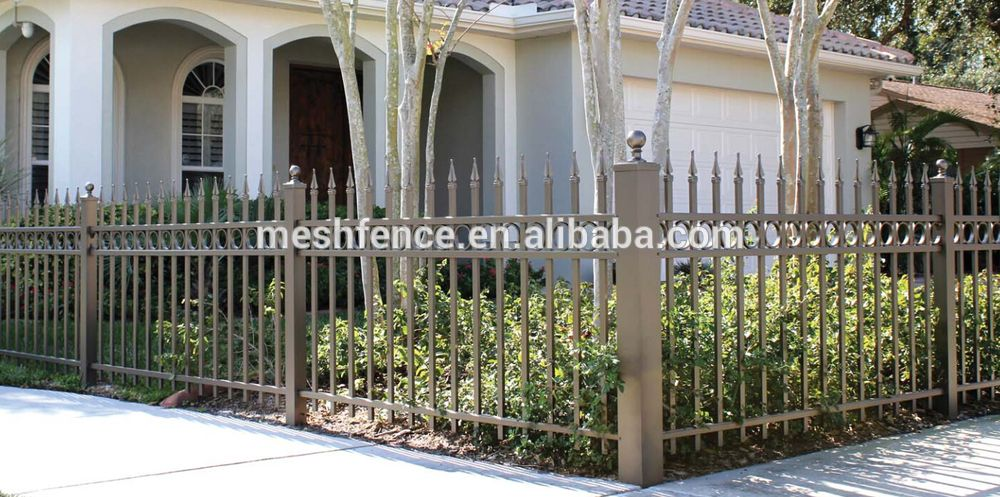 Alibaba China Used Garden Decorative Wall Wrought Iron Metal Fence