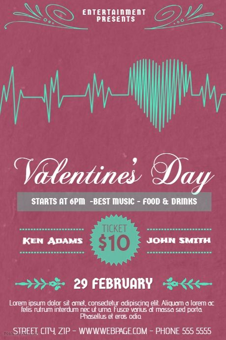 Valentine S Day Event Flyer Template Postermywall Valentines Day