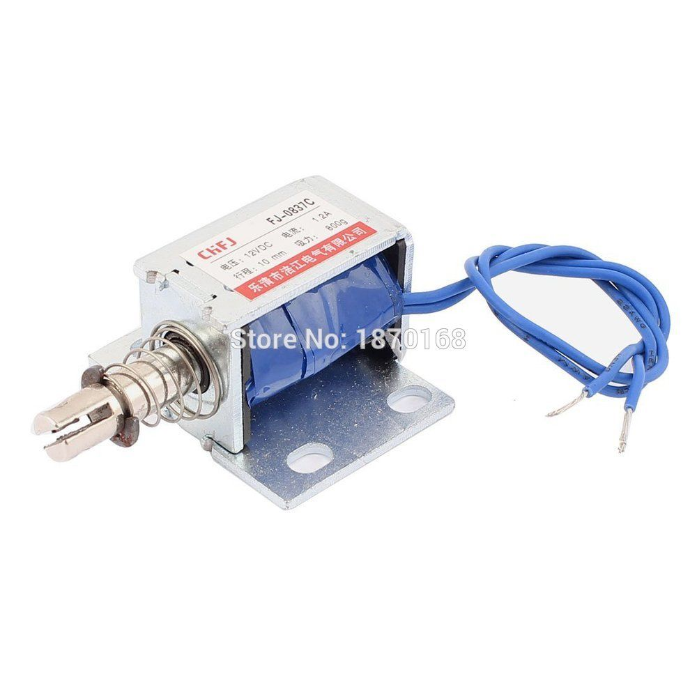 Fj 0837c Jenis Push Pull Dc Elektromagnet Magnet Solenoid 10 Mm 800 G Dc 12 V 1 2a Electromagnet Magnets Replacement Parts