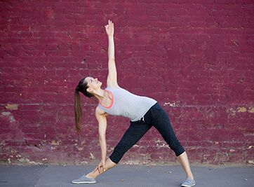 trikonasana or triangle pose  yoga poses yoga poses for