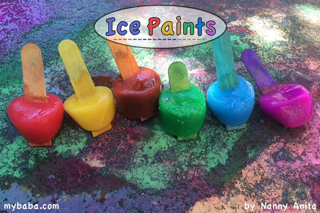 Photo of Pavement Ice Painting | Nanny Anita | My Baba