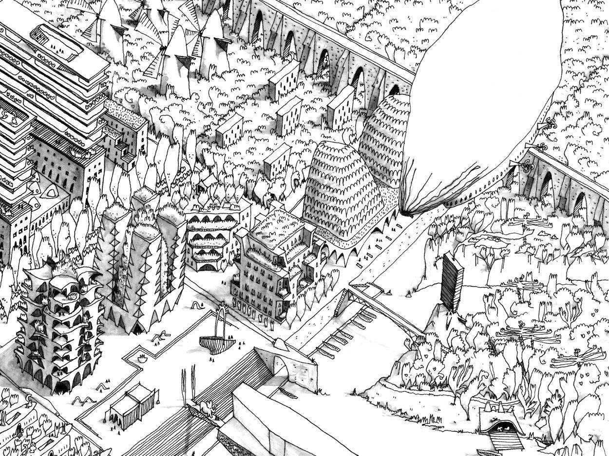 20 projets I Dessiner, mesurer, construire I 2013 - Guillaume Ramillien Architecture Urbanisme Illustration