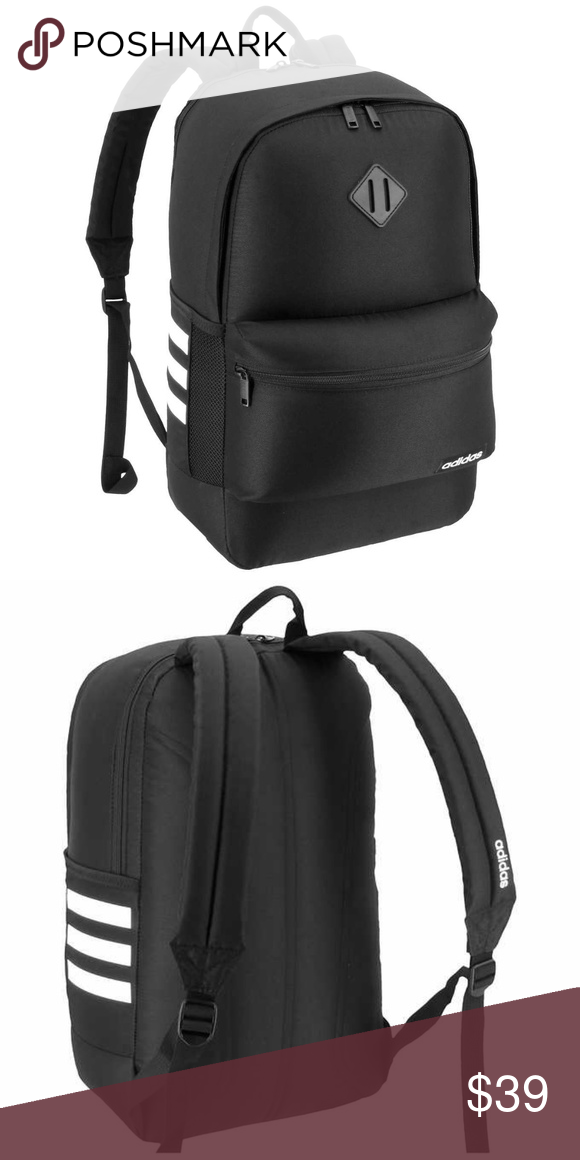 cheaper 1da1d 79716 Adidas Core Backpack Black Unisex adidas® Color  Black White Classic adidas  backpack Perfect