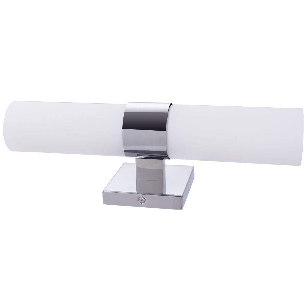 e5bb8e0f282c3 Tangkula Bath Light 2-Led Polished Chrome Vanity Fixture Bathroom ...