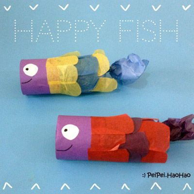 Toilet Paper Roll Fish Lantern Toilet Paper Roll Arts And Crafts For Kids Crafts